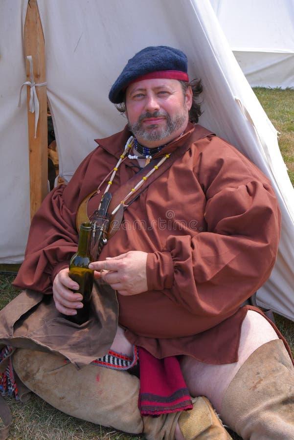 Re-promulgação dos rebeldes e do incursor em Amherstburg fotos de stock royalty free