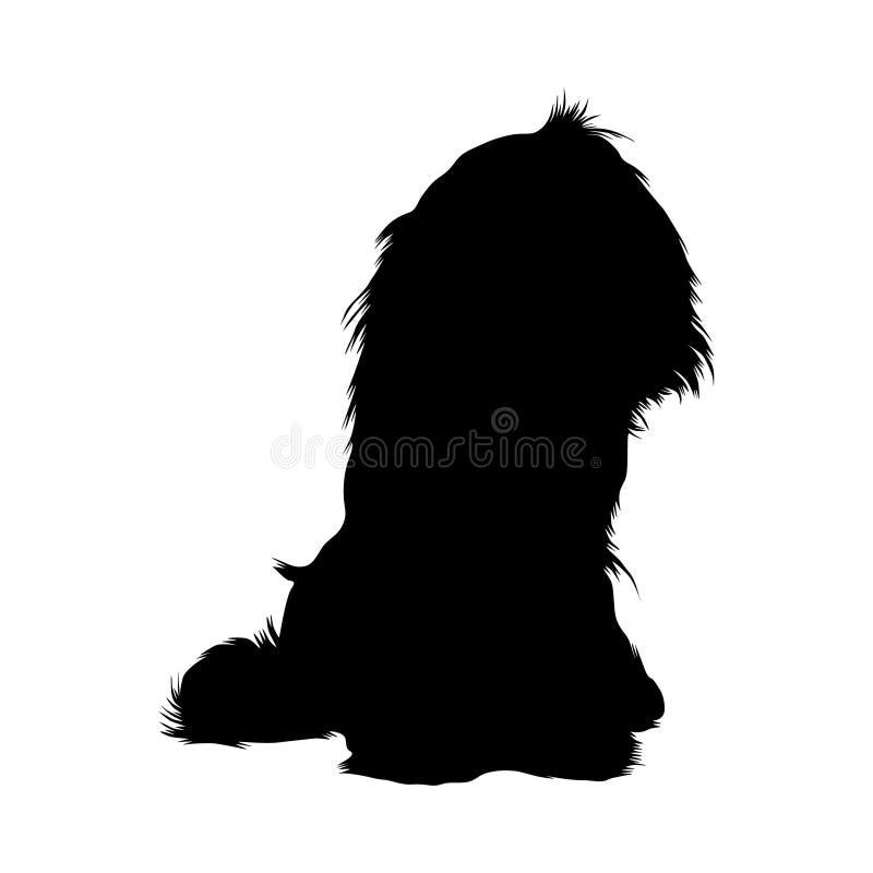 Re sprezzante Charles Spaniel Dog Silhouette illustrazione di stock