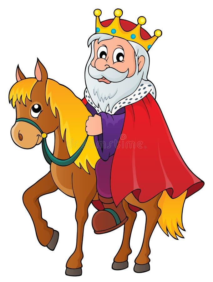 Re sull'immagine 1 di tema del cavallo illustrazione di stock