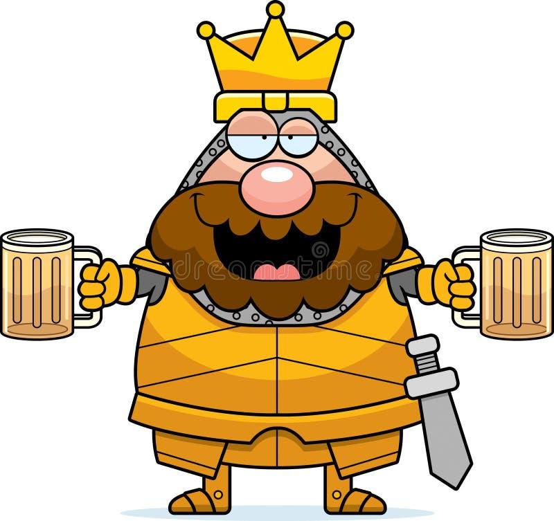 Re ubriaco del fumetto illustrazione vettoriale