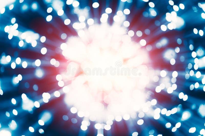 A reação de Atom Nuclear explode da energia do raio gama da liberação da propagação do núcleo fotografia de stock