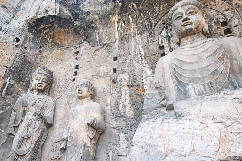 ?rea c?nico Luoyang China das grutas de Longmen fotos de stock royalty free