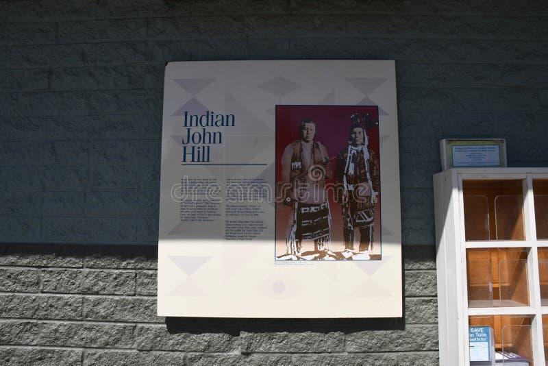 ?rea de repouso de Joh Hill do indiano em Cle Elum Washington EUA imagens de stock royalty free
