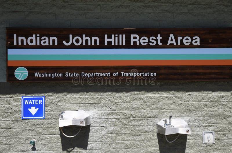 ?rea de repouso de Joh Hill do indiano em Cle Elum Washington EUA imagem de stock