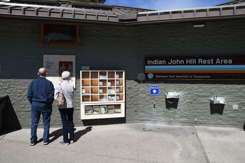 ?rea de repouso de Joh Hill do indiano em Cle Elum Washington EUA fotos de stock royalty free