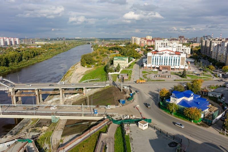 ?rea hist?rica y moderna Tyumen Rusia fotos de archivo