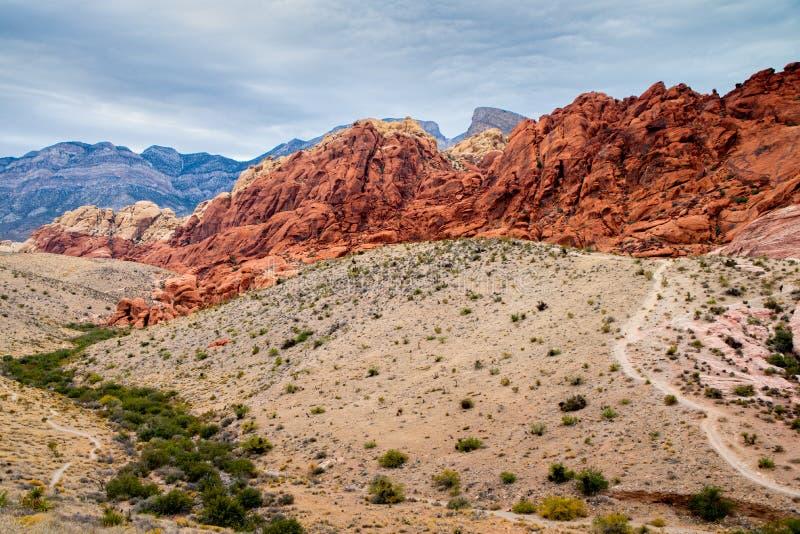 A ?rea nacional da conserva??o da garganta vermelha da rocha perto de Las Vegas fotos de stock