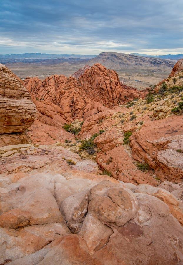 A ?rea nacional da conserva??o da garganta vermelha da rocha perto de Las Vegas imagem de stock royalty free