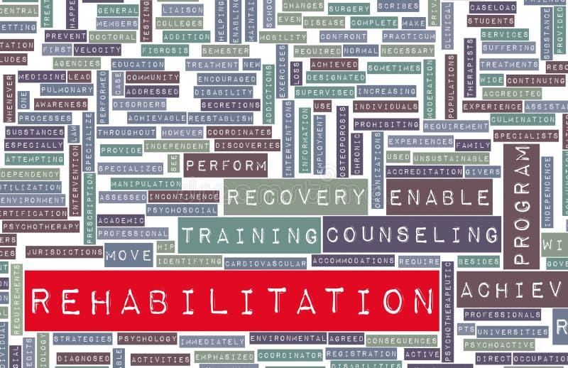 Reabilitação ilustração do vetor