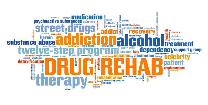 Reabilitação da droga ilustração do vetor