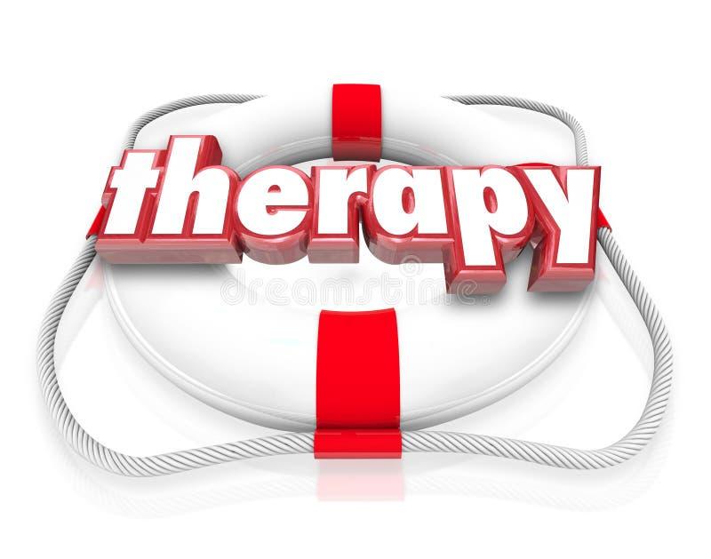 Reabilitação médica dos cuidados médicos do conservante de vida da palavra da terapia ilustração royalty free