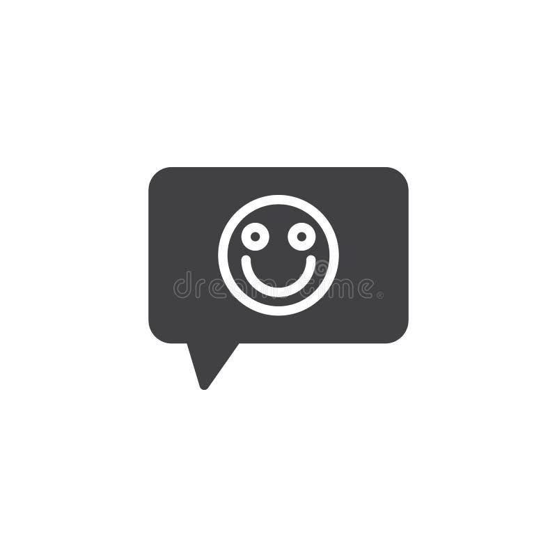 Reacción, icono del vector del emoticon de la sonrisa ilustración del vector