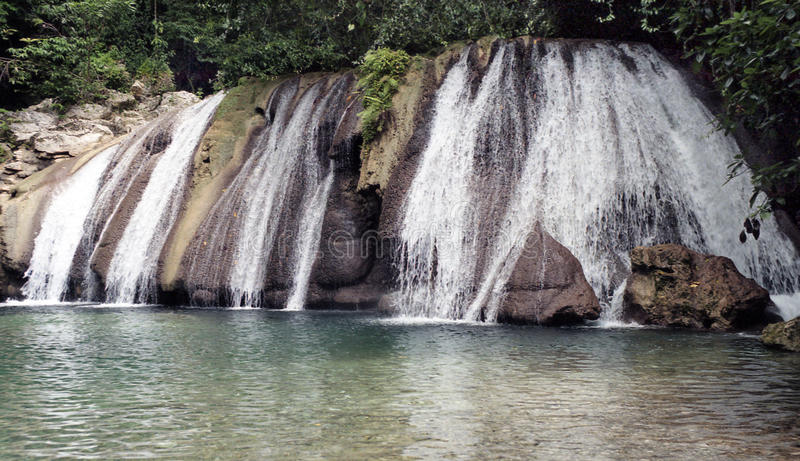Download Reach Falls, Jamaica stock image. Image of falls, portland - 76427839