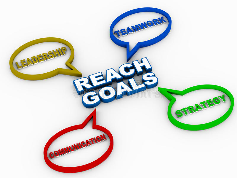 Reach goals vector illustration