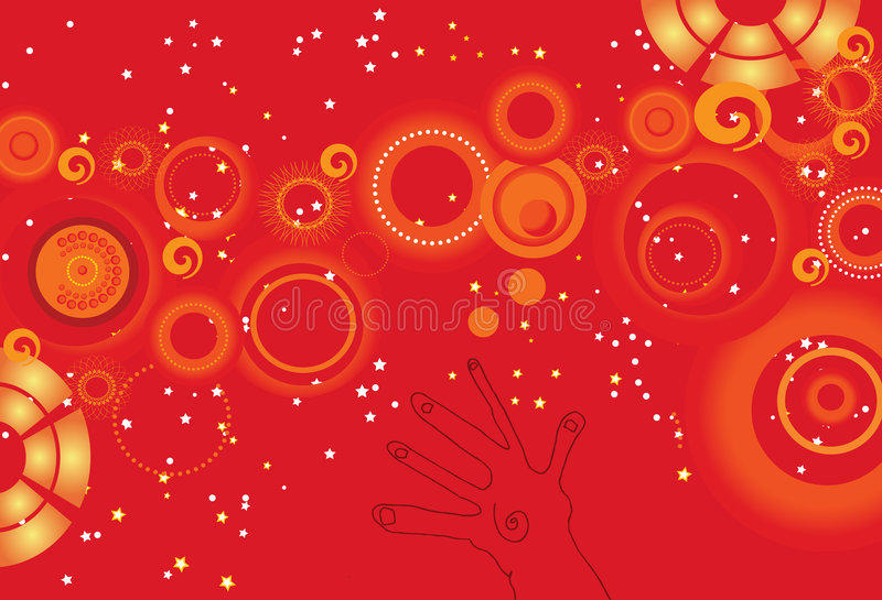 Download Reach out for the stars stock illustration. Image of holiday - 6803829