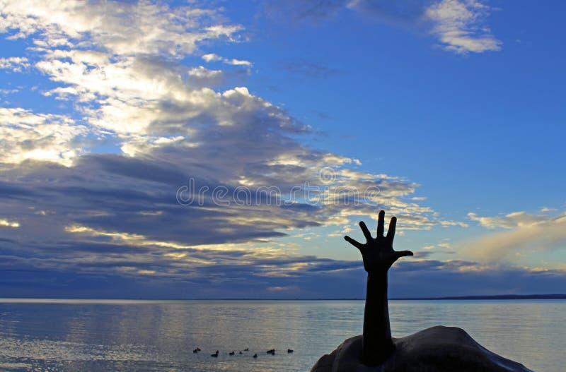 Reach for the Sky in Balatonfured Lake Balaton, Hungary stock photo