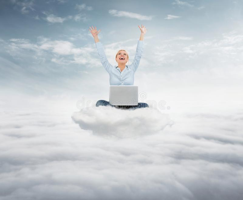 Reach the sky concept royalty free stock photography
