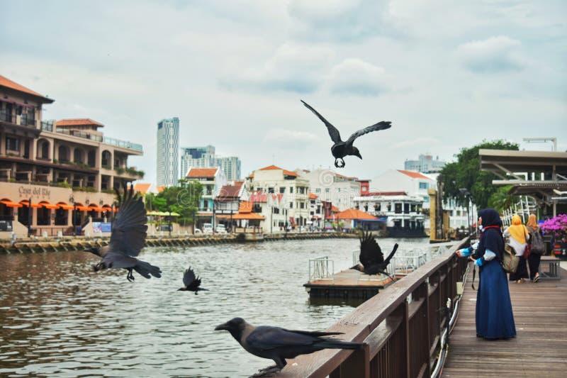 Malaka River, Malaysia royalty free stock photography