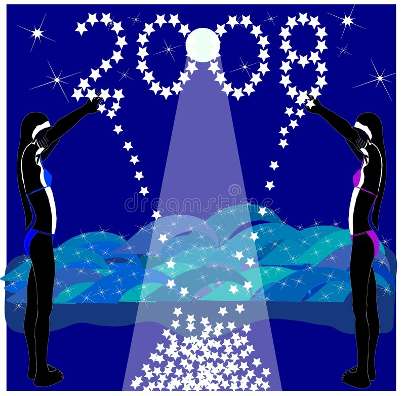 Download Reach For The Stars In 2008 Stock Illustration - Image: 3647090