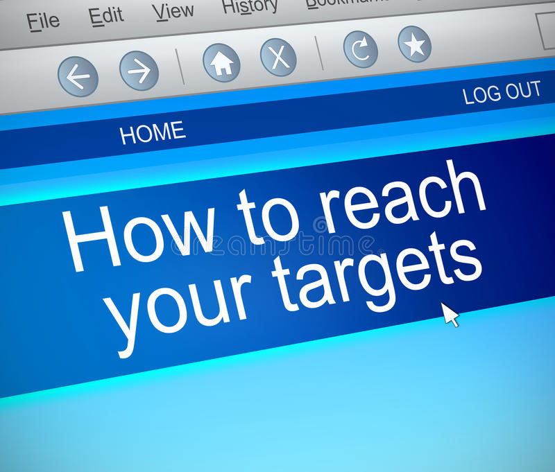 Reach your targets. stock illustration
