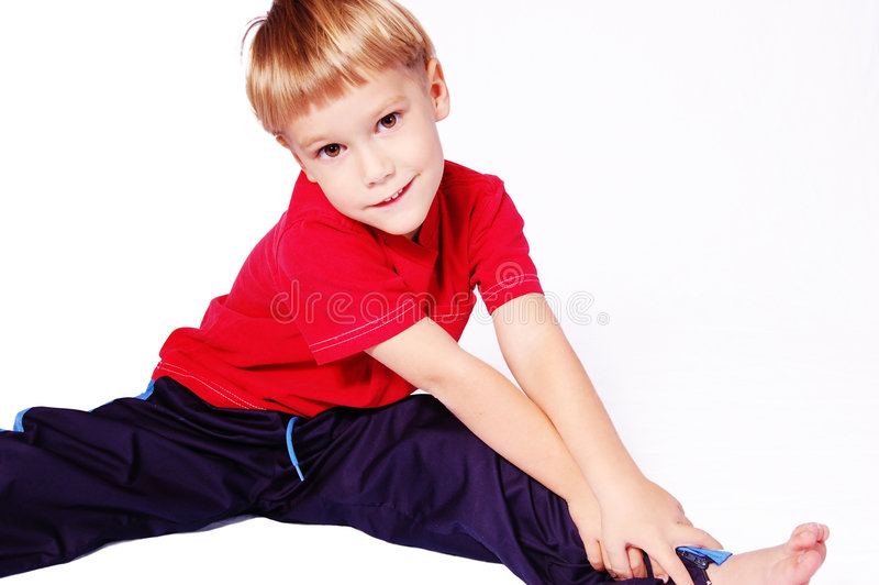 Reach For Your Toes royalty free stock photo