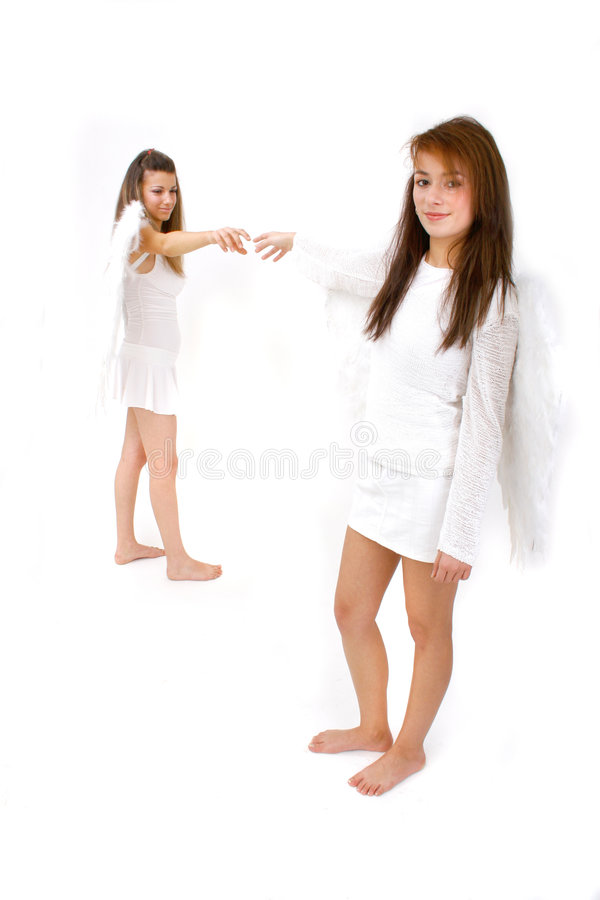 Reaching Angels Royalty Free Stock Image