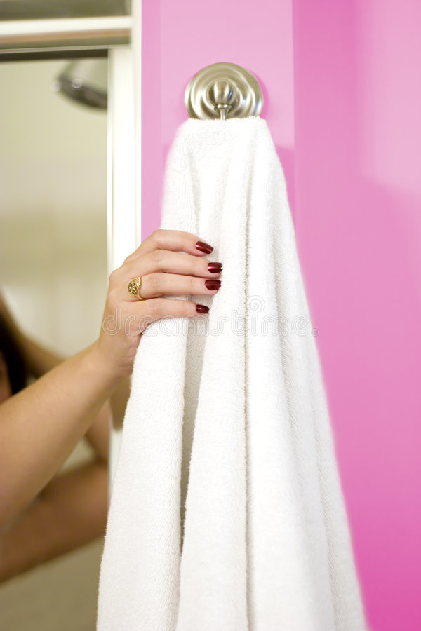 Free Reaching For The Towel Stock Photos - 1314403