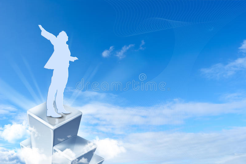 Download Reaching goal stock photo. Image of concept, career, goal - 25940508