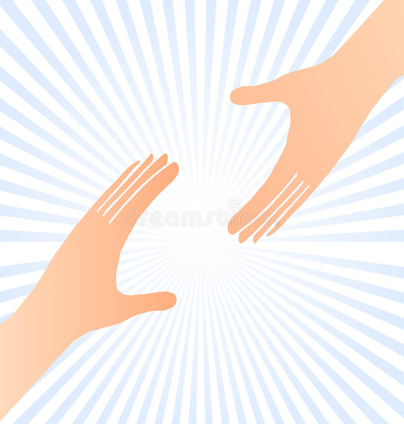 Reaching hands help concept stock illustration