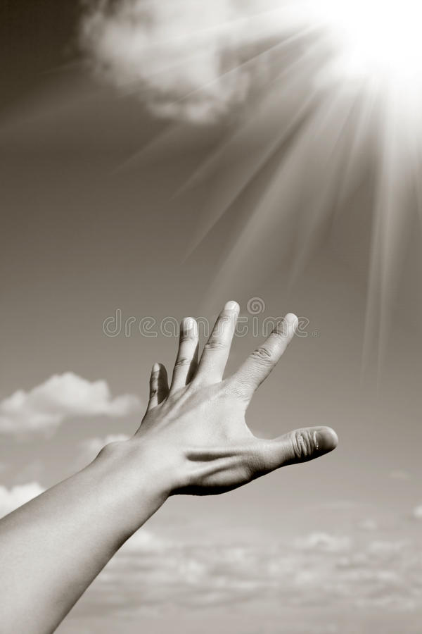 Reaching the heaven royalty free stock images