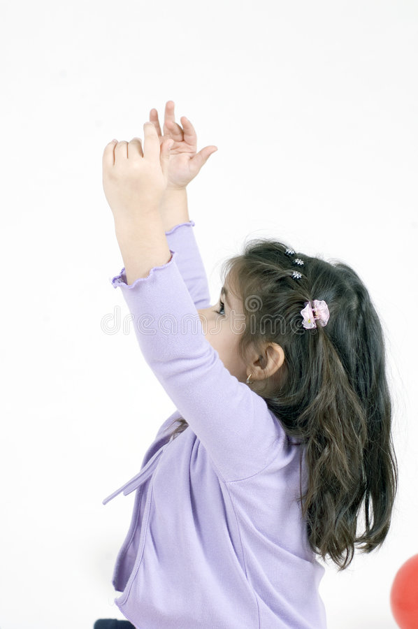 Download Reaching high stock image. Image of pink, pure, child, innocence - 648213