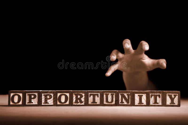 Download Reaching opportunity stock image. Image of dark, words - 16383559