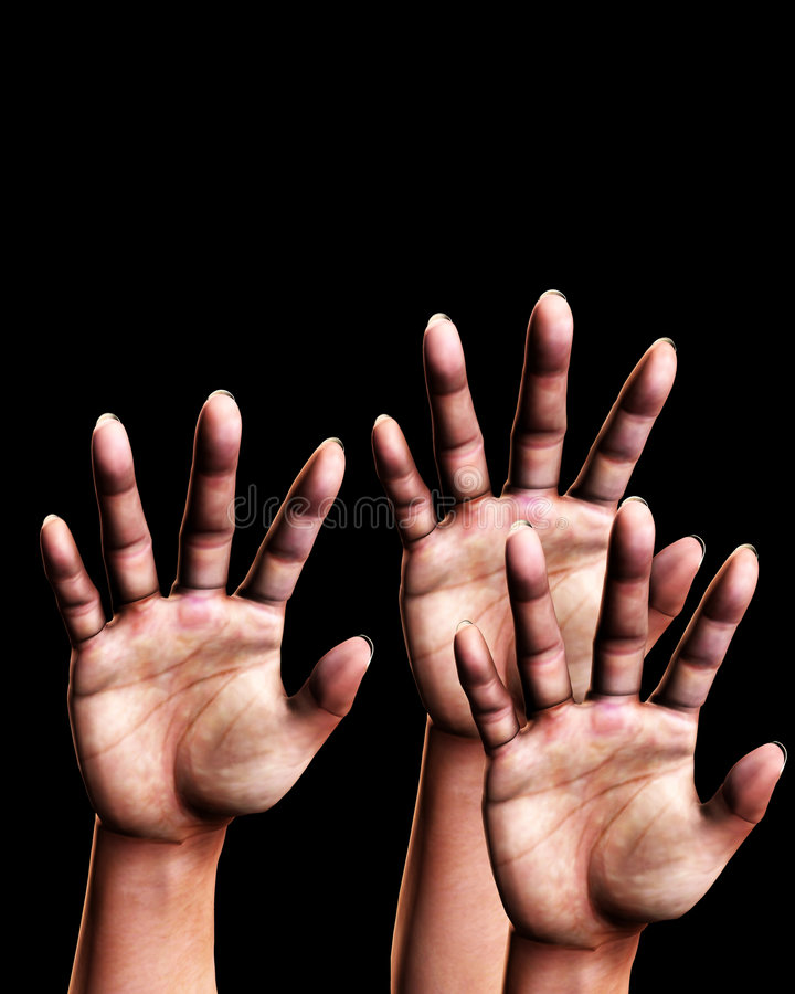 Download Reaching Out 3 stock illustration. Image of limbs, fingers - 3641139