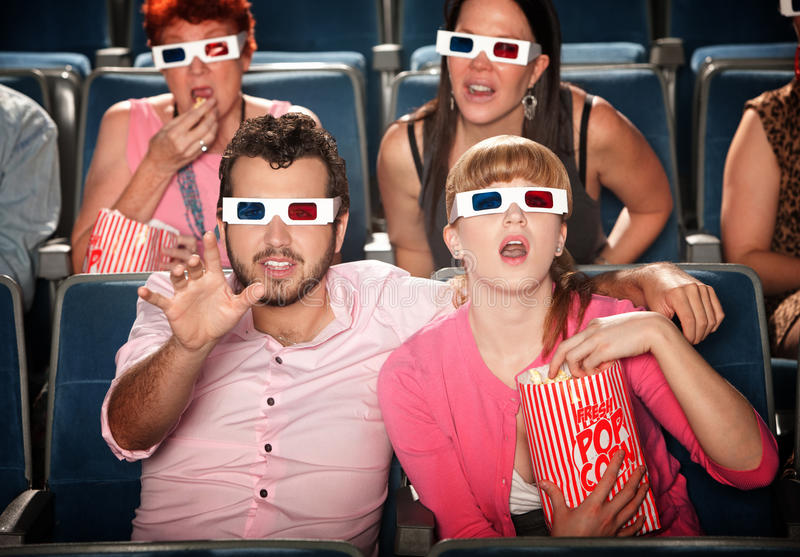 Download Reaching Out At 3D Movie Stock Photo - Image: 22215890