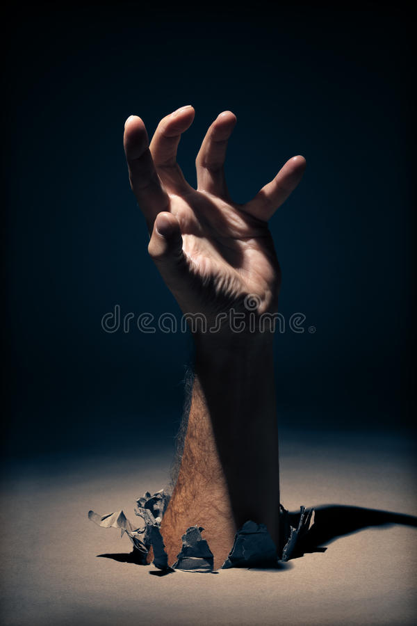 Reaching out royalty free stock photo
