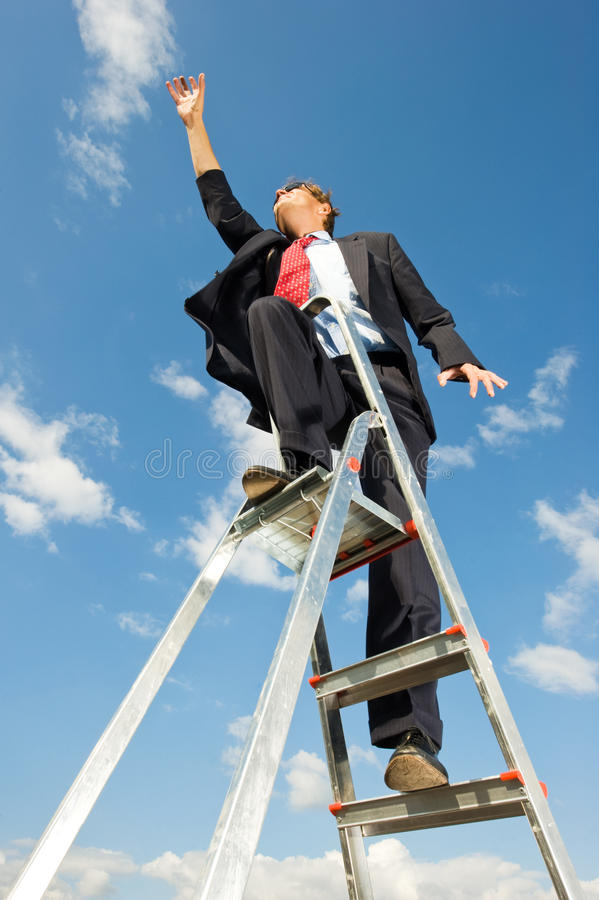 Reaching for the sky stock photography