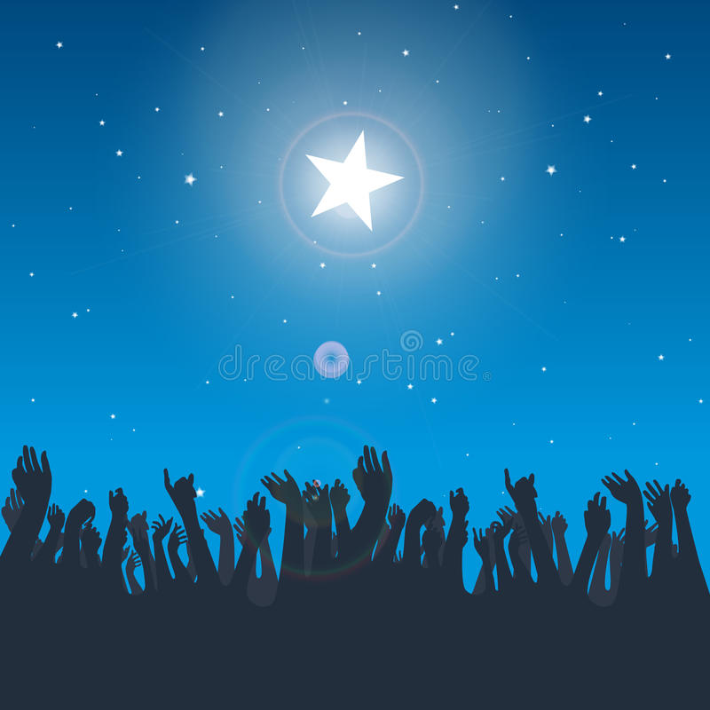 Download Reaching the Star stock vector. Image of imagine, heaven - 27544038