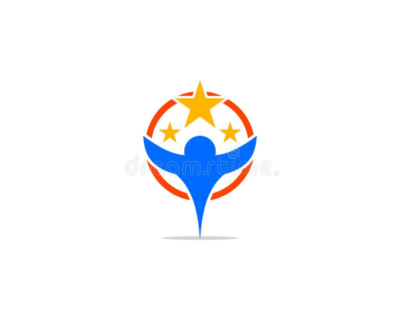 Reaching Stars Logo Design Template vector illustration