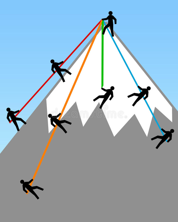 Reaching the top vector illustration