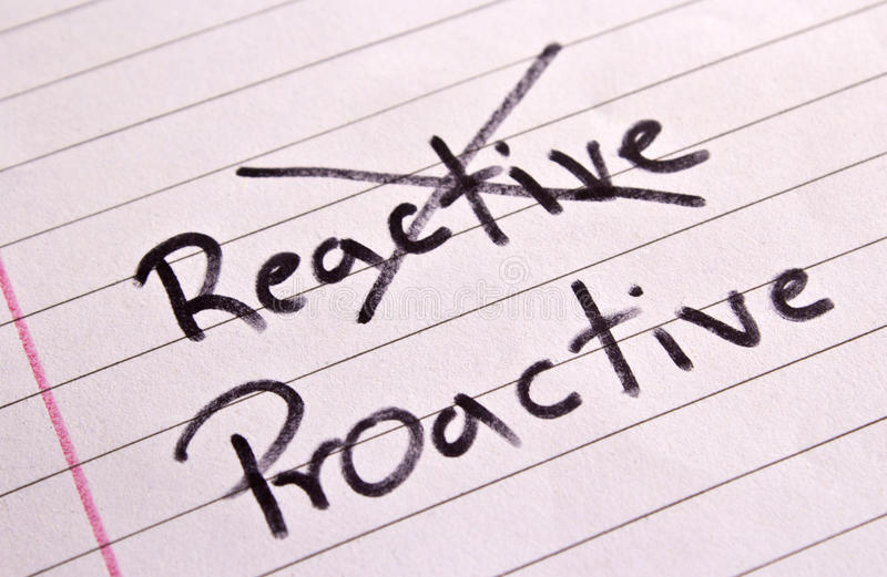 Download Reactive And Proactive Concept Stock Photo - Image: 26034958