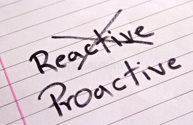 Reactive and Proactive concept royalty free stock photos
