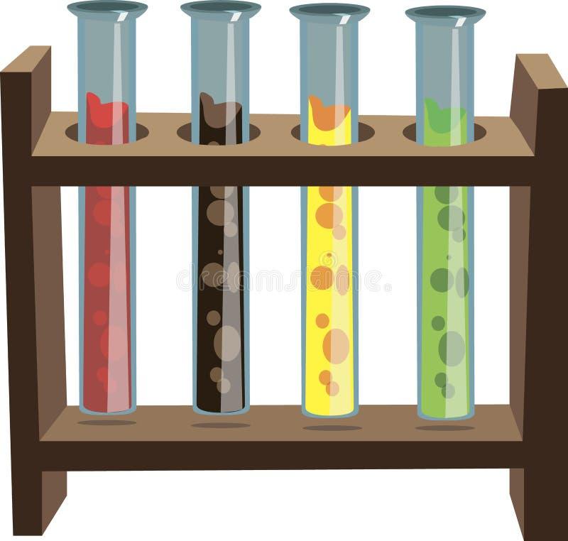 Reactivo químicos en ayuda en vector imagen de archivo libre de regalías