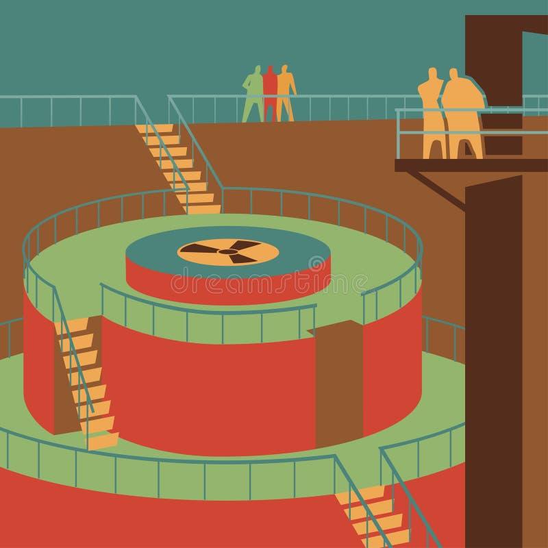 Reactor1 royaltyfri illustrationer