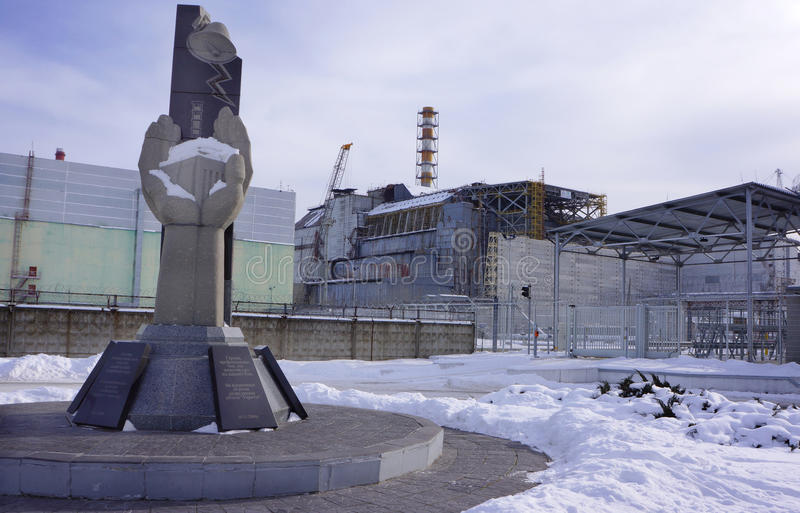 Download Reactor #4 And The Chernobyl Monument Stock Image - Image: 38096383
