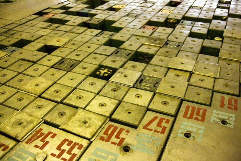reactor de energía atómica Grafito-moderado fotos de archivo libres de regalías