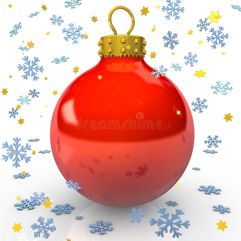 Download Read Christmas Bauble stock illustration. Image of shiny - 24718438