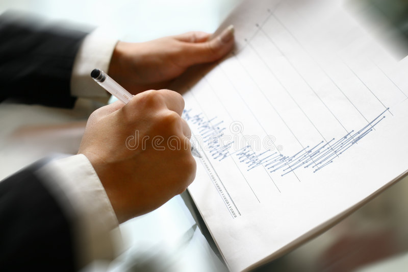 Read financial report royalty free stock photography