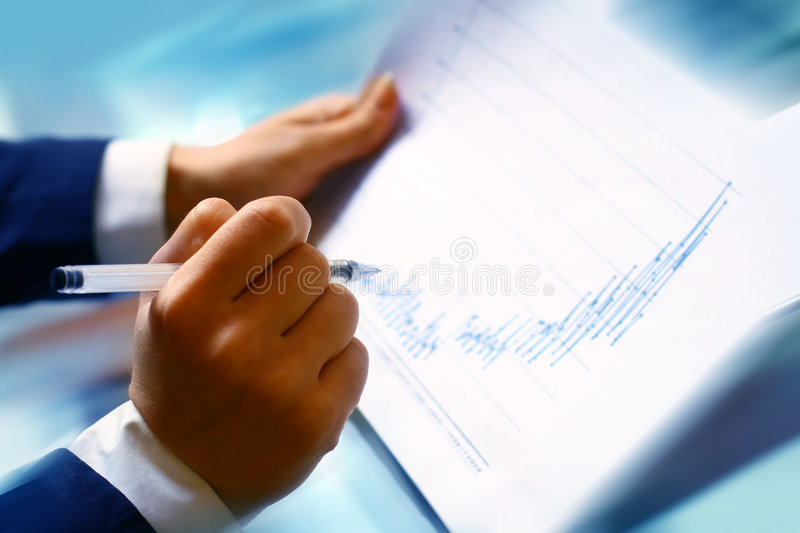 Read financial report royalty free stock images
