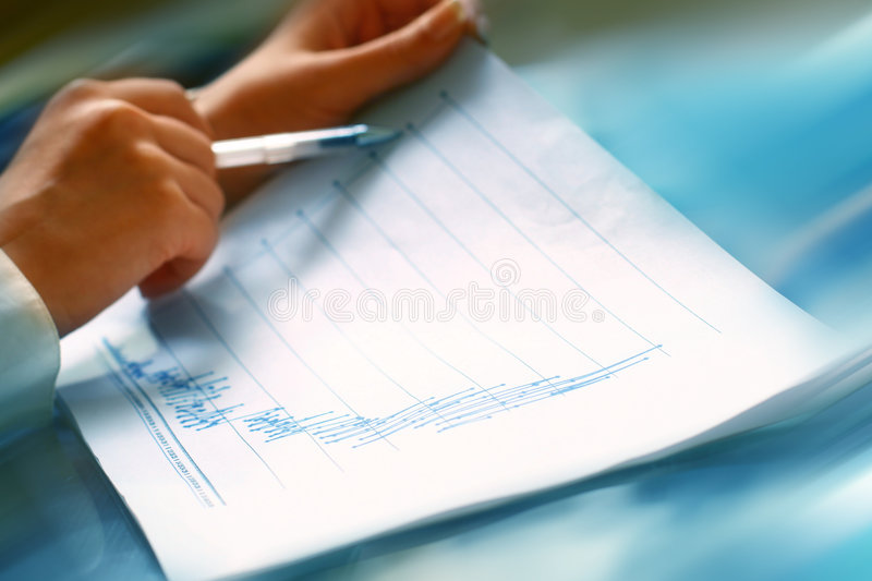 Read financial report stock photos