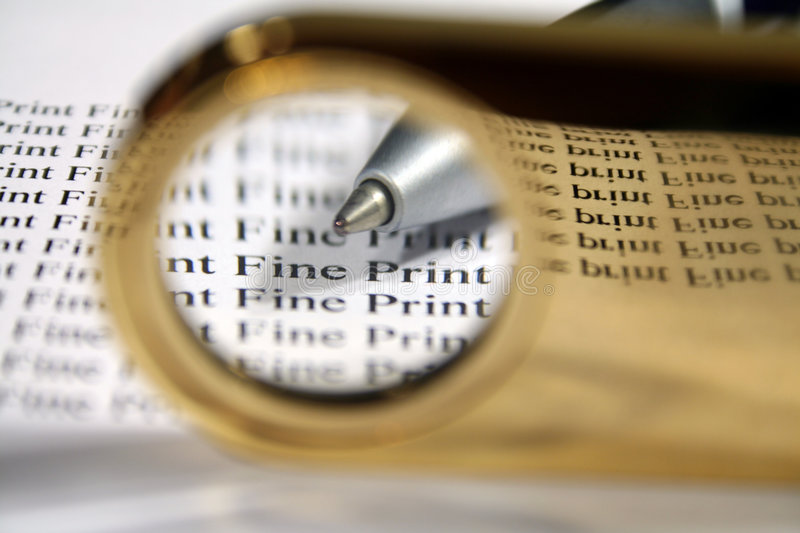 Download Read The Fine Print stock photo. Image of terms, document - 1892562